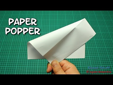 How to Make a Paper Popper - Loud Paper Banger