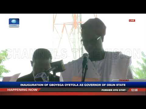 Gboyega Oyetola Sworn In, Takes Over As Osun State Governor Pt.1 |Live Event|