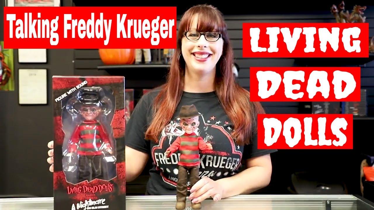 Freddy Krueger with Sound Living Dead Dolls A Nightmare on Elm Street Talking
