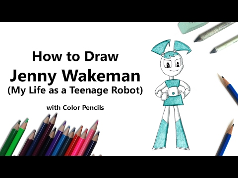 How to Draw Jenny Wakeman from My Life as a Teenage Robot with Color Pencils [Time Lapse]