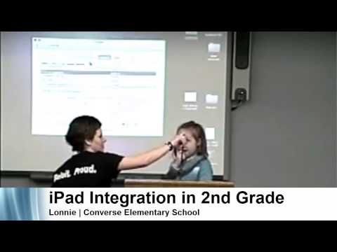 iPad Initiative | Lonnie, 2nd grader at Converse Elementary school presents