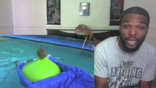 6FT MAN IN GIANT WATER BALLOON GONE WRONG!!!!! Almost Drowns! Reaction!