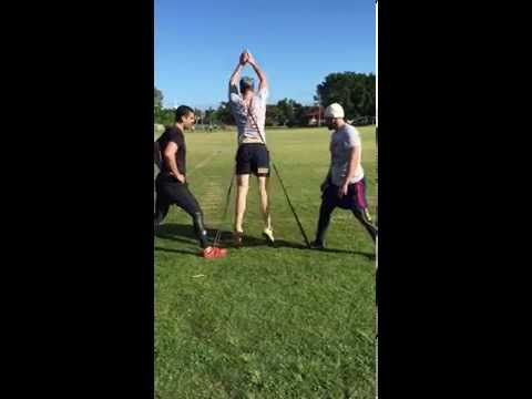 Banded Squat Jumps with a Sprint