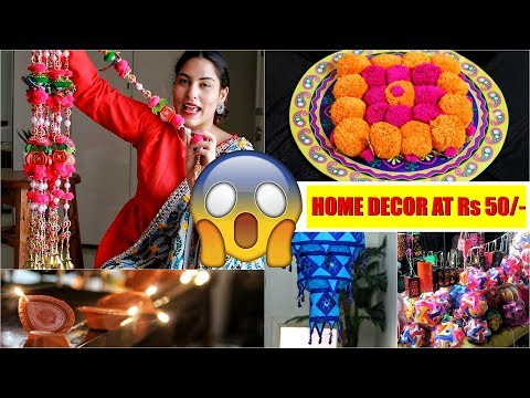 Huge SADAR BAZAR HAUL : Wholesale Home Decor - DIWALI 2018 - StyleMeUpWithSakshi - 동영상