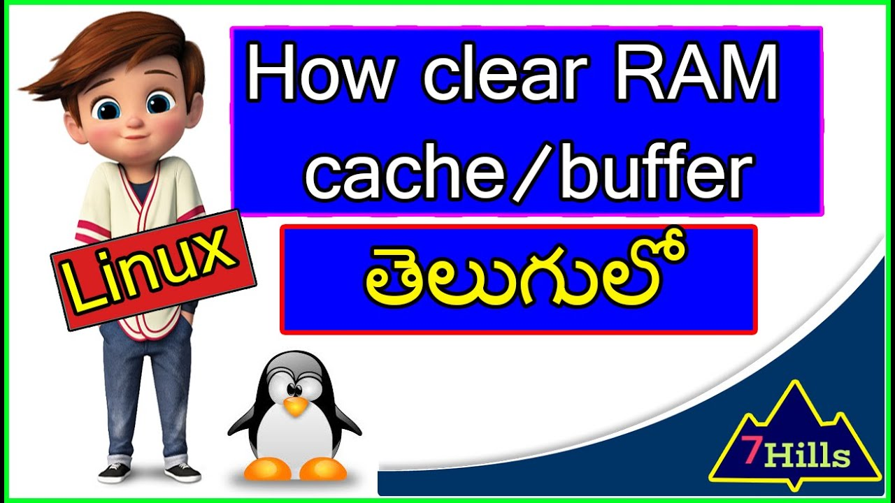 How to clear RAM cache/buffer In Linux machine | Unix In Telugu | Linux