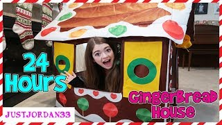 24 Hour Gingerbread House Challenge / JustJordan33