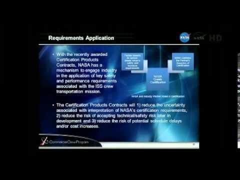 Part 1 NASA Commercial Crew Program Status Update