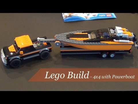 Lego City 4x4 With Powerboat Set #60085 - Unboxing and Build