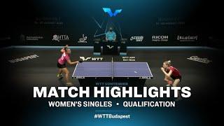 Leonie Hartbrich vs Natalia Grigelova | WTT Contender Budapest 2021