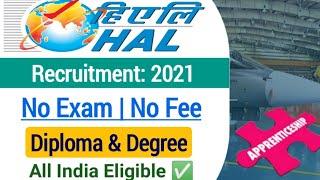 HAL Apprentice Vacancy 2021| HAL Diploma Apprentice Vacancy 2021| Hal Graduate Apprentice Vacancy|