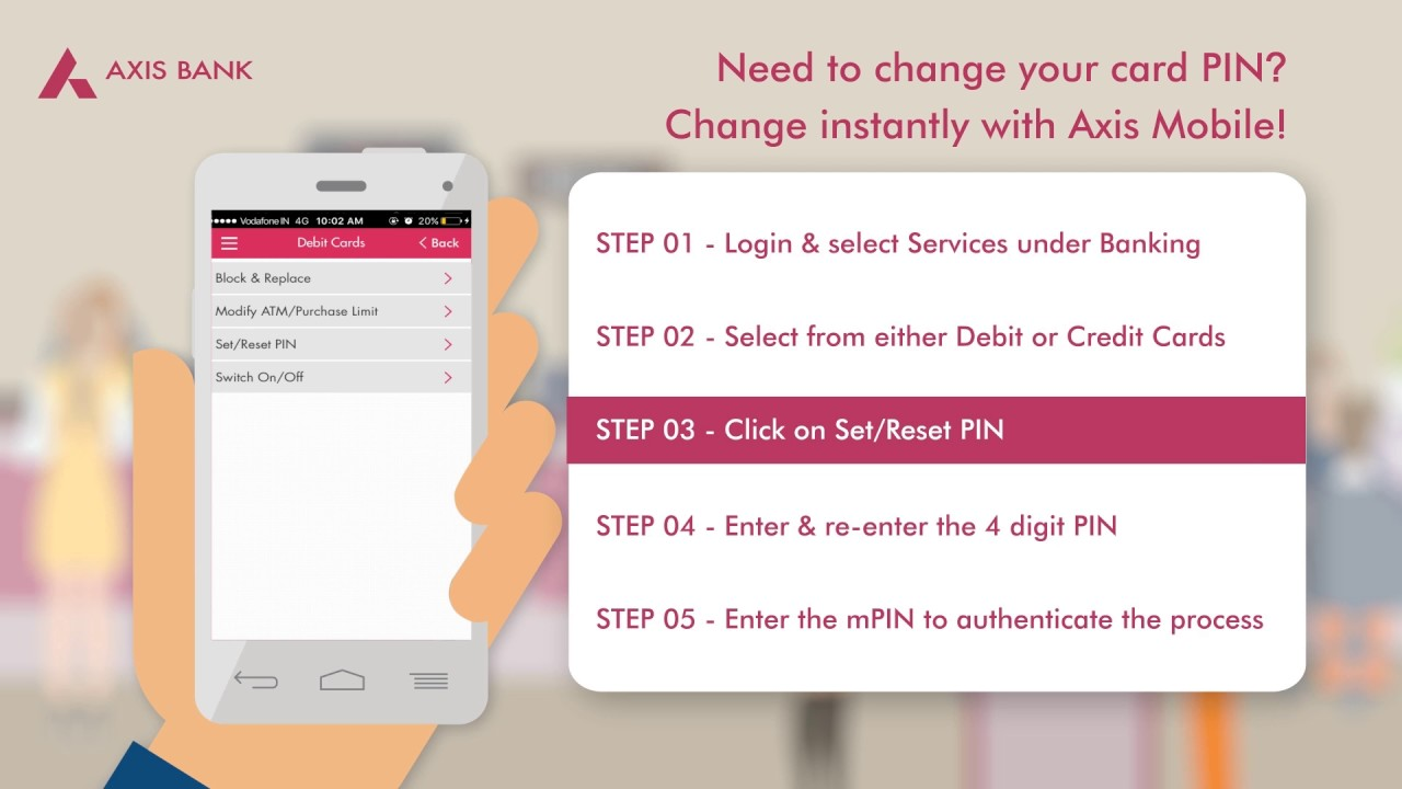 axis bank credit card mobile number change