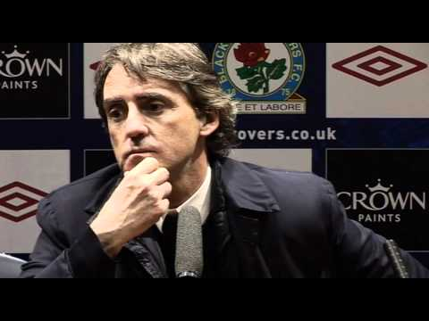 Mancini delighted with City's win | Premiership - Man City 1-0 Blackburn 25-04-11