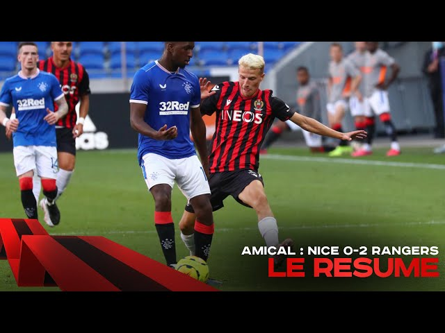 Résumé : OGC Nice 0-2 Glasgow Rangers (match amical) - OGC Nice