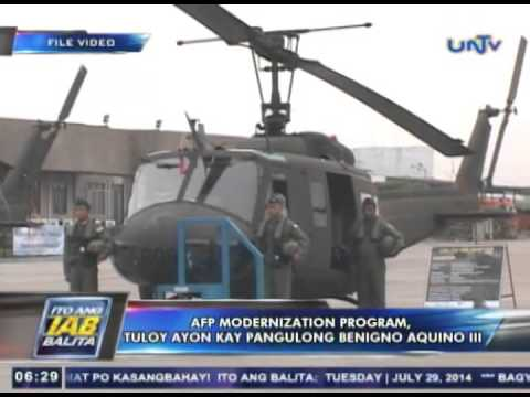 afp modernization program by angara Revised, the modernization program for 2013-2017 has a budget of p 853 billion, which will be spread out over five years and with p86 billion going to the army, p433 billion to the air force, p282 billion to the navy and p52 billion to the afp general headquarters.