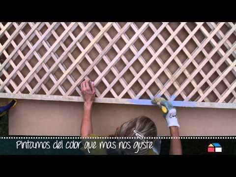 Celosias y paredes con madera de exteriores 01 terraz - Biombos para exteriores ...
