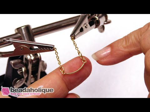How To Use The Third Hand Tool To Make Jewelry With Bar Chain