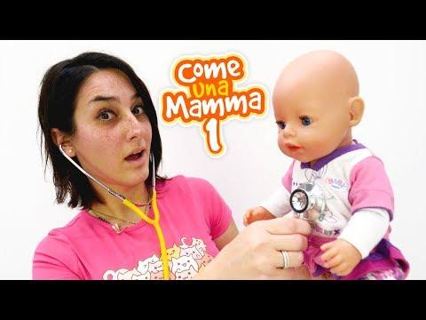 Giochi con la bambola Nenuco. Come una mamma. Video educativi per bambini