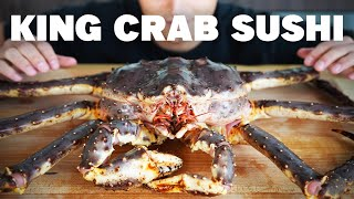 MAKING SUSHI FROM A LIVE KING CRAB