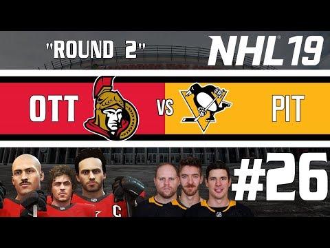 Round Two/Penguins - Offseason - NHL 19 - GM Mode Commentary - Senators - Ep.26