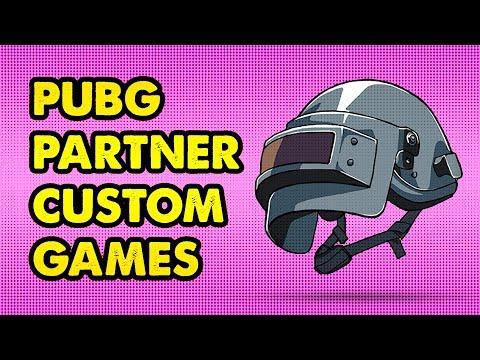 PUBG PARTNER CUSTOM GAMES | Battlegrounds Live Stream Gameplay - YouTube