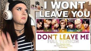 BTS' Don't Leave Me Reaction (I WONT LEAVE) // ItsGeorginaOkay
