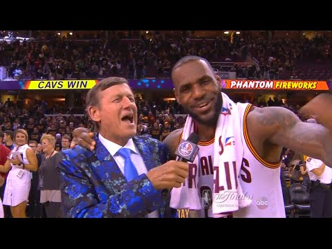 bd35bab99b1e Craig Sager interviews LeBron James - NBA Finals Game 6 - YouTube