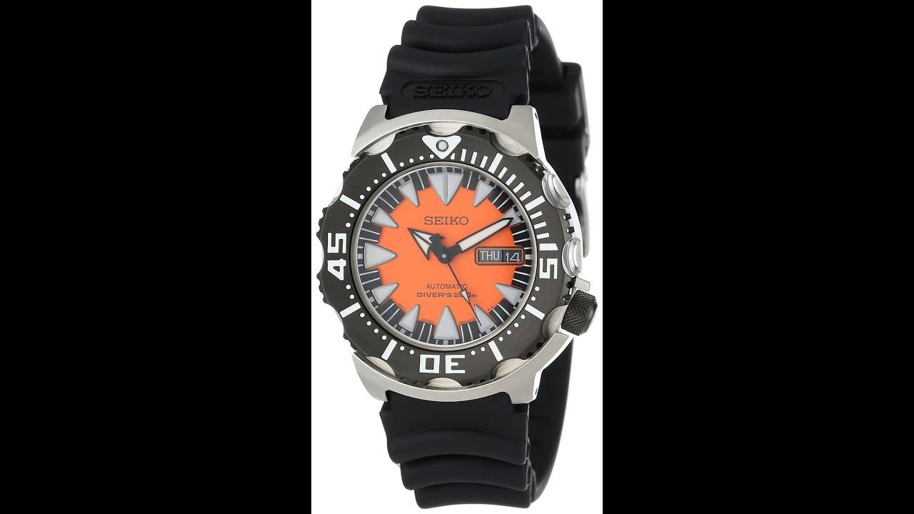 Seiko srp315 men 39 s classic automatic divers orange dial black rubber strap dive watch review - Orange dive watch ...