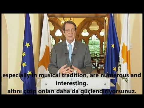 Mr Anastasiades message to the Bi_communal choir for peace in Cyprus