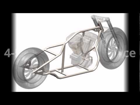 Chopper bike frame blueprint