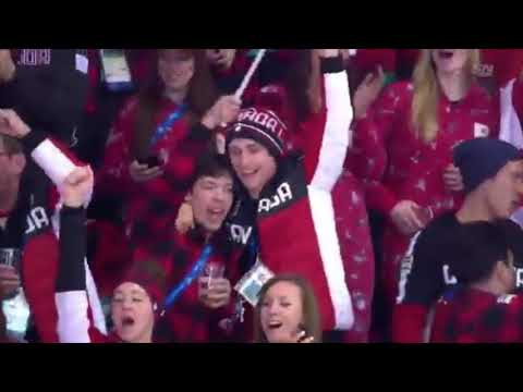 Fanboy Scott Moir at Women's Hockey US v. Canada