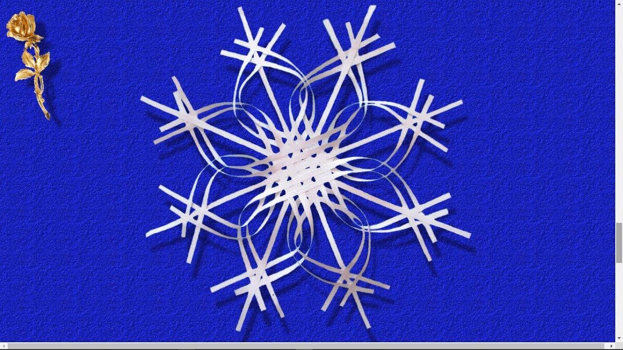 Flocon de neige en papier youtube - Flocon de neige en papier origami ...