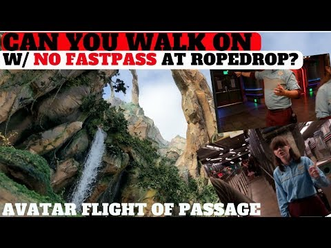 Can You WALK ON AVATAR 'FLIGHT OF PASSAGE' At Rope Drop w/ NO FASTPASS?