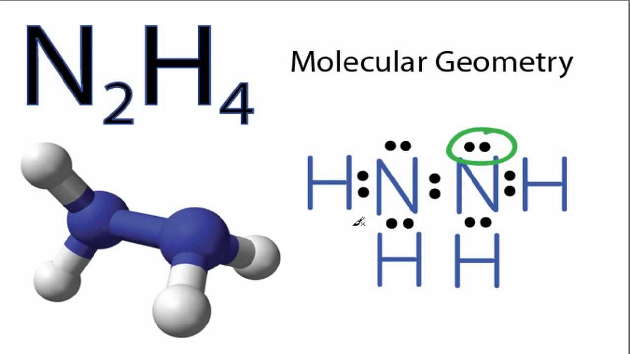 N2H4 Molecular Geometry and Bond Angles - YouTube H2 Lewis Dot Structure