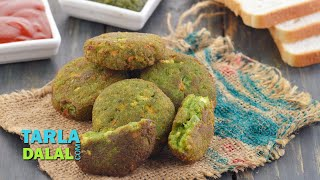 Crunchy Bread Cutlet by Tarla Dalal