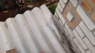 Ремонт стыка крыши (шифер упирается в стену) 1(, 2016-10-04T08:33:53.000Z)