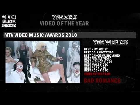 MTV Video Music Awards 2010 - Winners (Lady Gaga)