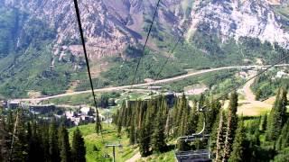 Snowbird Ski Resort in the summer time