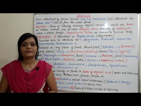 Introduction To Alkaloids- Secondary Metabolites (Part 1) Hindi