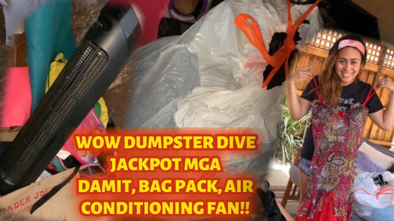 Dumpster Diving Jackpot Look I Found a Cooler Electric Fan, Clothes,Bag Packs wow unbelievable finds