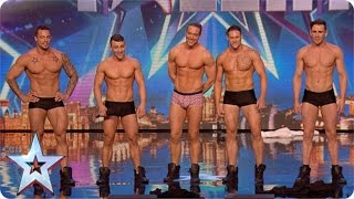 Why hello boys! Feeling a bit hot under the collar are we? | Britain\'s Got More Talent 2015