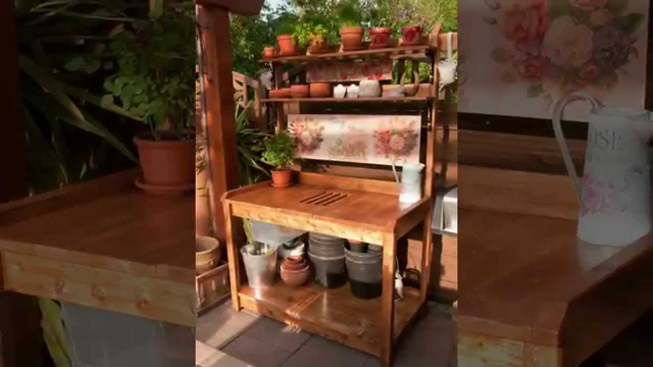 Sehr Unser DIY Outdoor Pflanztisch - Our Own DIY Outdoor Potting Bench WI56