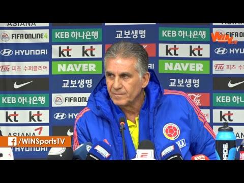 Colombia vs Corea del Sur | Carlos Queiroz y Yerry Mina en Rueda de Prensa
