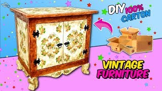 CRAFTS MADE WITH CARTON - DIY BEDSIDE TABLE