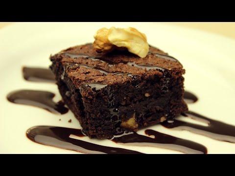 Fudgy Brownies Recipe - Chocolate Walnut Brownies