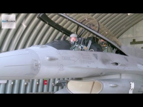 Polish F-16 Pilots Taking Off at Łask Air Base, Poland
