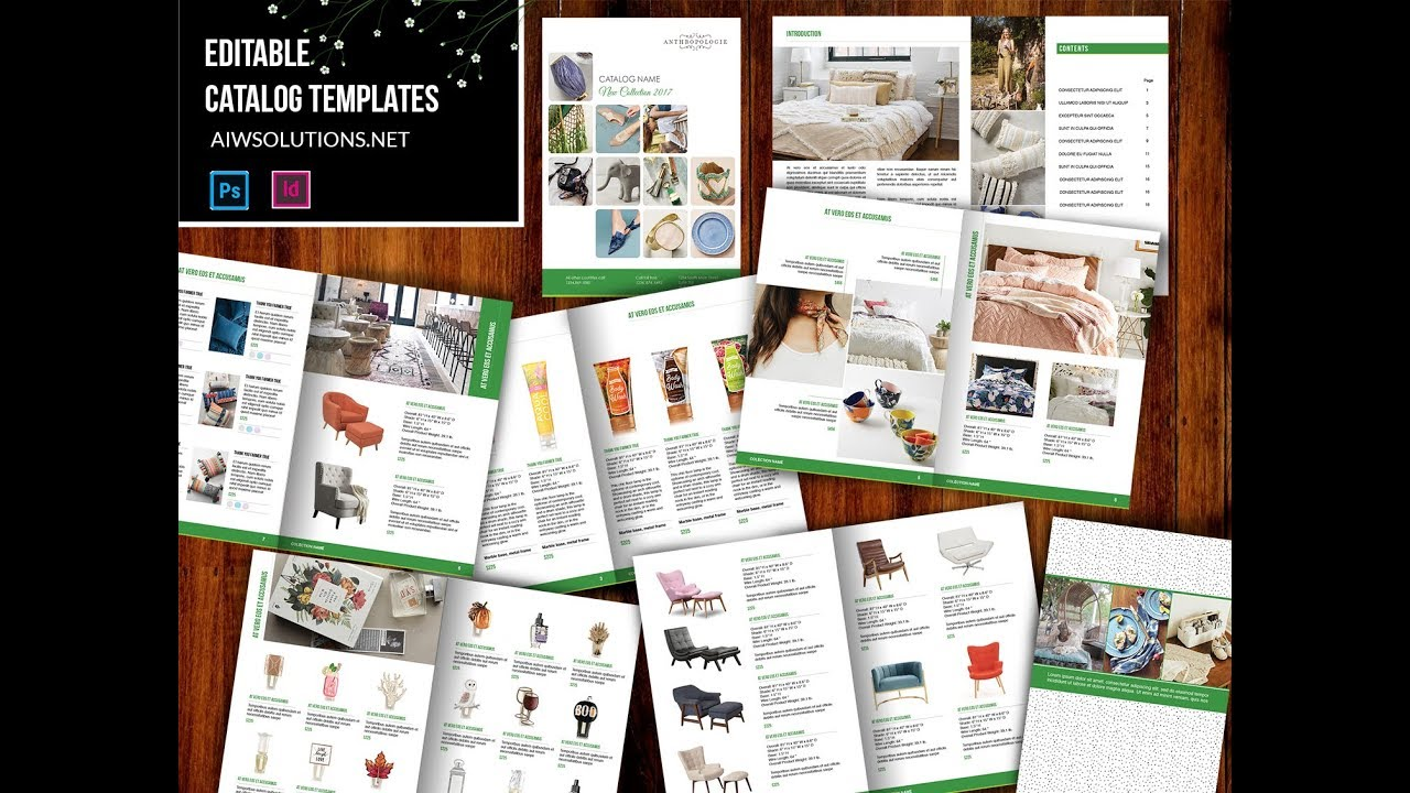 How to use Indesign wholesale Catalog Template id07 - YouTube