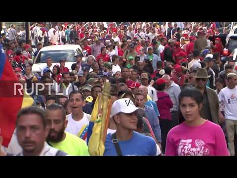 Venezuela: Thousands rally in Caracas in support of Maduro