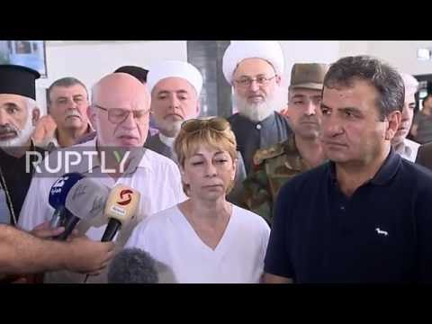 Syria: Russian officials criticise sanctions on visit to Latakia hospital