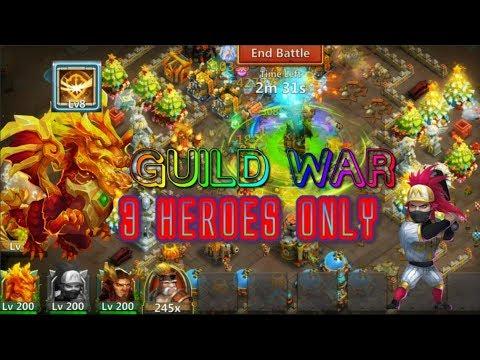 Survival3 Heroes Vs Guild War Gameplay - Castle Clash