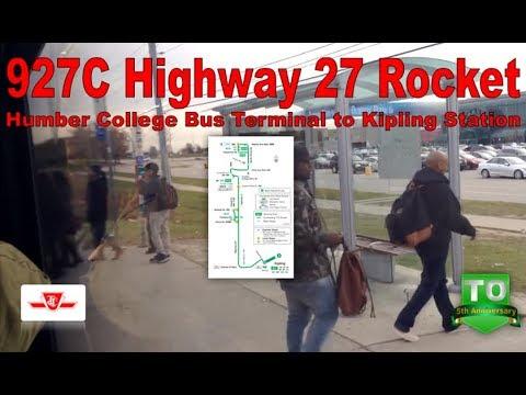 191C Highway 27 Rocket - TTC 2015 Nova Bus LFS 8442 (Humber College Bus Terminal to Kipling Station)